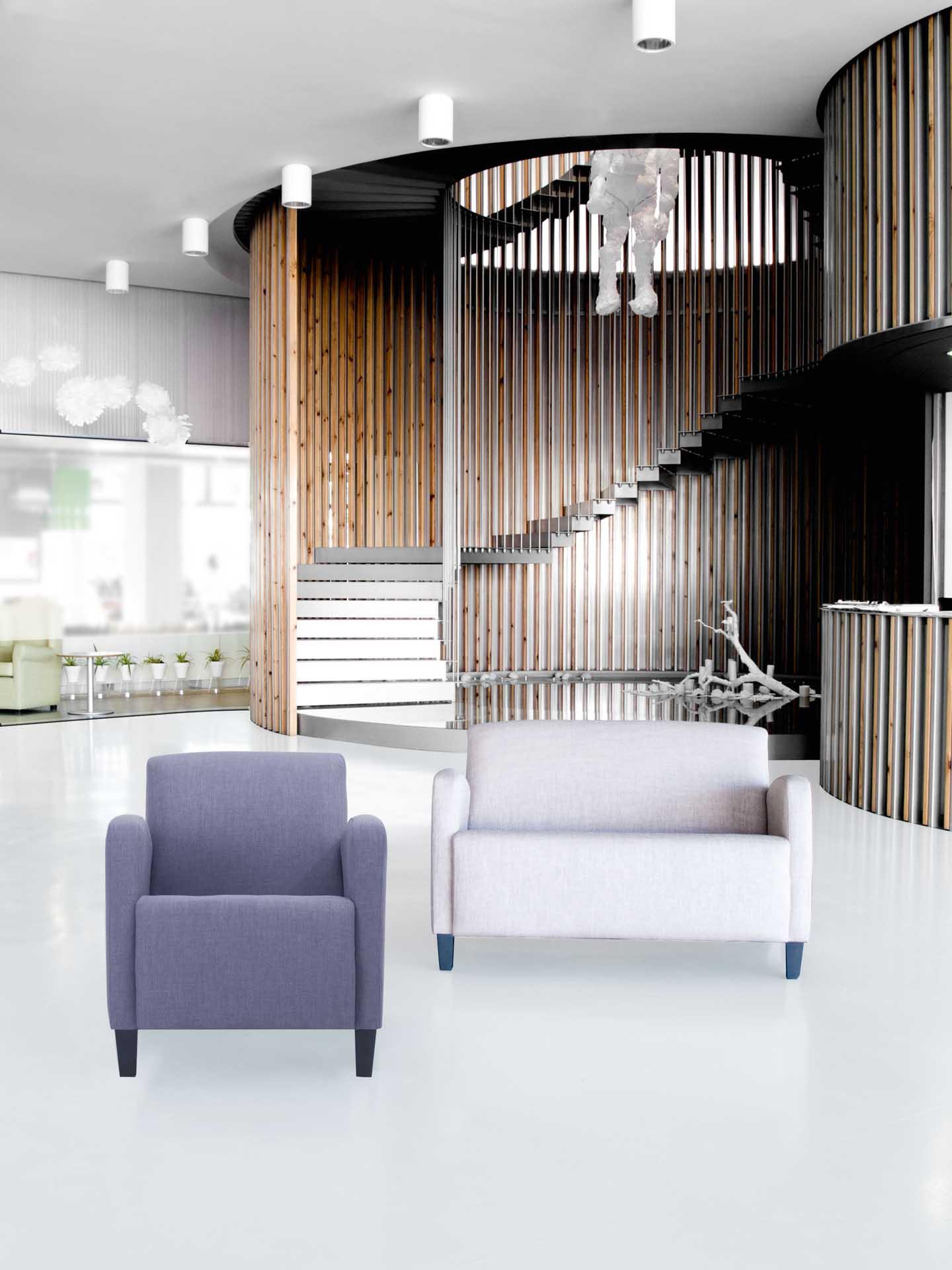 Butacas y sofás para salas de espera, descanso o hall de residencias