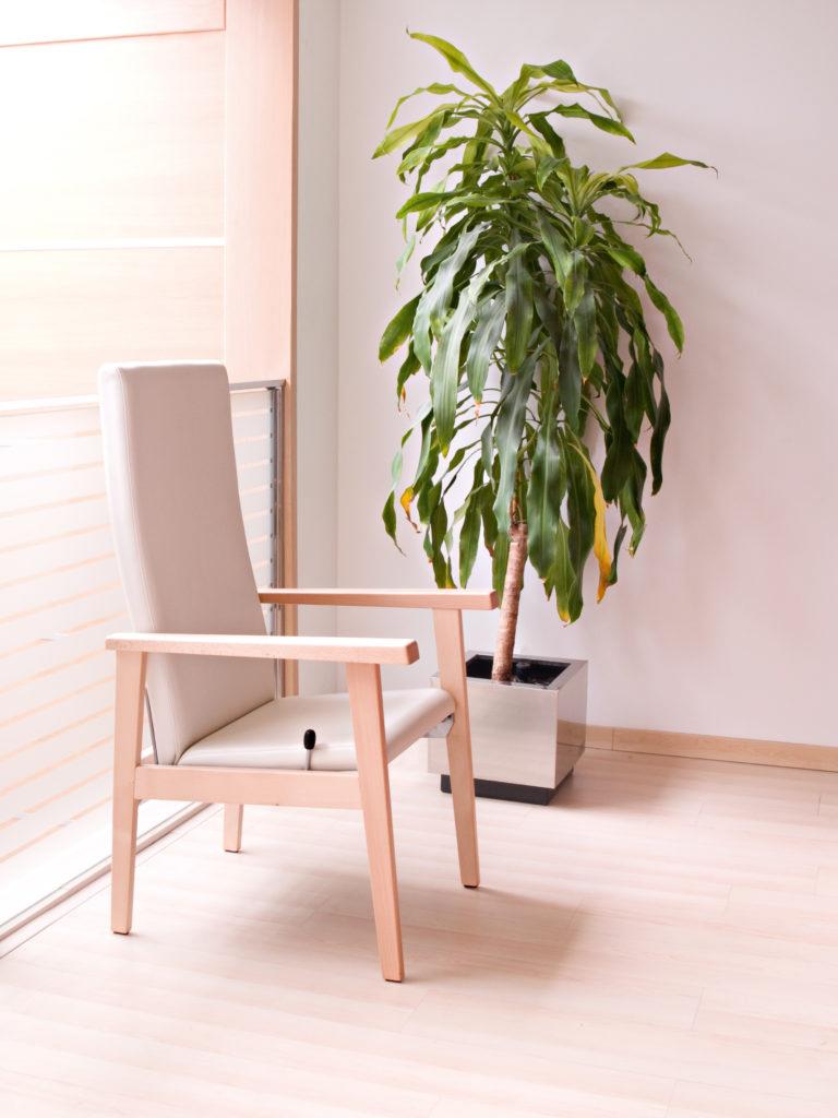 Muebles para el equipamiento de residencias geriátricas con estructuras de madera