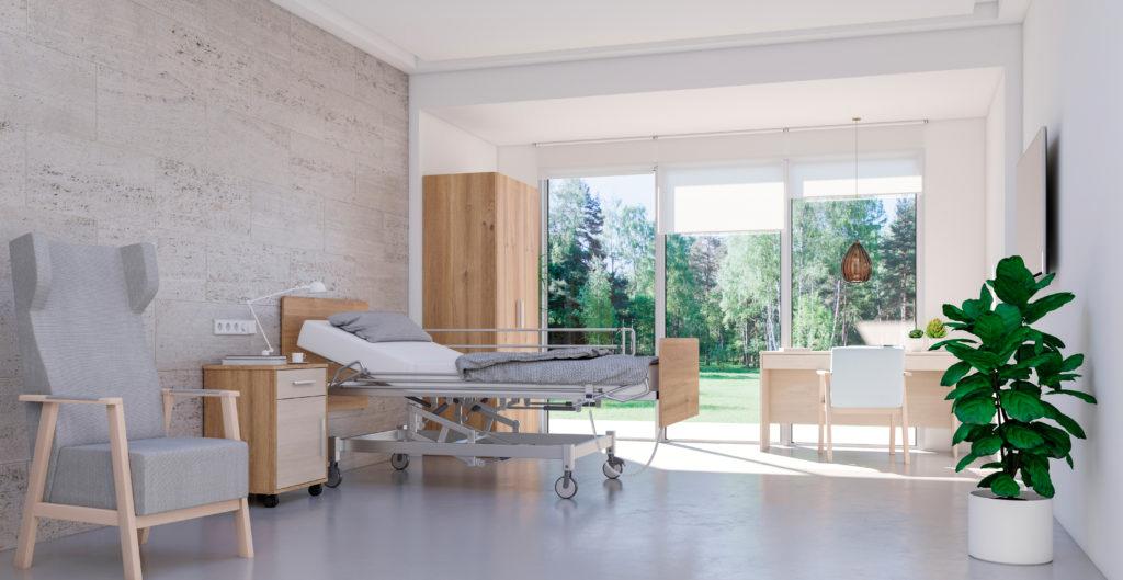 Mobiliario para residencias de ancianos de estética moderna y funcional
