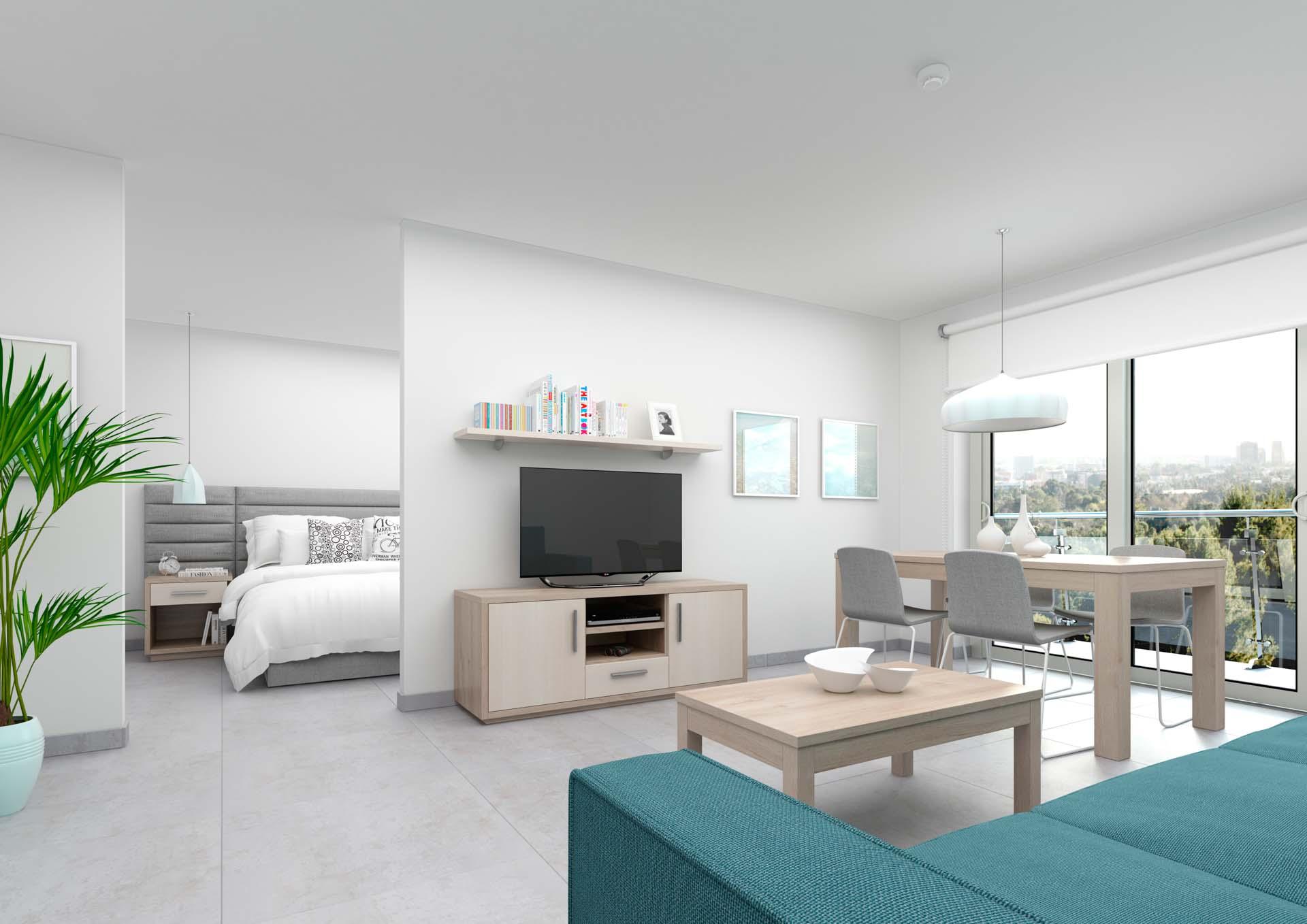 Mobiliario residencia de ancianos de estética moderna y funcional