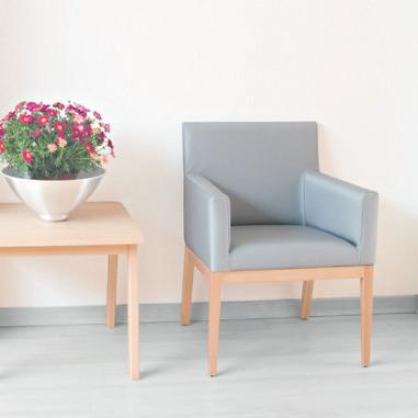Colecciones de mobiliario para geriatría: sillón para zona de espera, área de descanso o sala de comedor