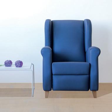 Colecciones de mobiliario para geriatría: sillón relax de diseño atemporal y elegante