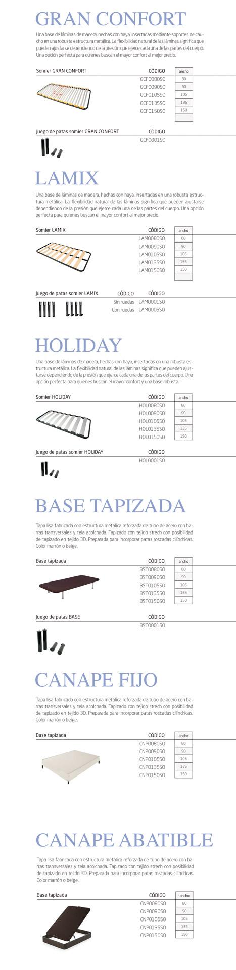 Modelos de la colección de bases de camas para geriátricos