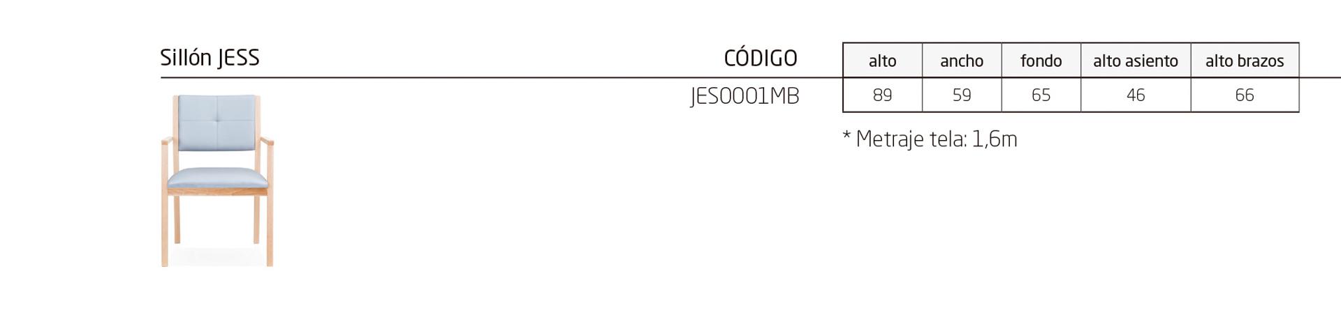 Modelos de la colección JESS, equipamiento de zonas comunes y comedores
