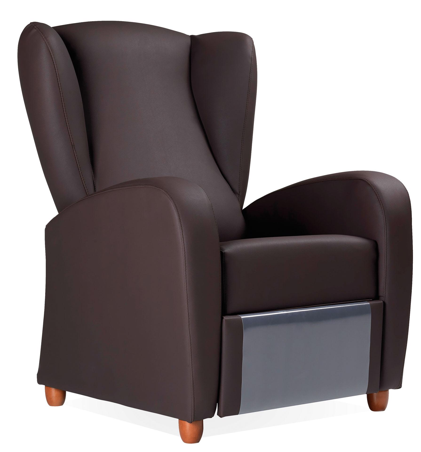 Sillón geriátrico reclinable de diseño refinado y elegante