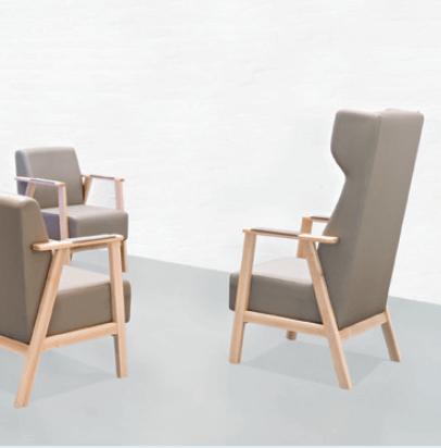 Colecciones de mobiliario para geriatría: butacas tradicionales para instalación y geriatría.