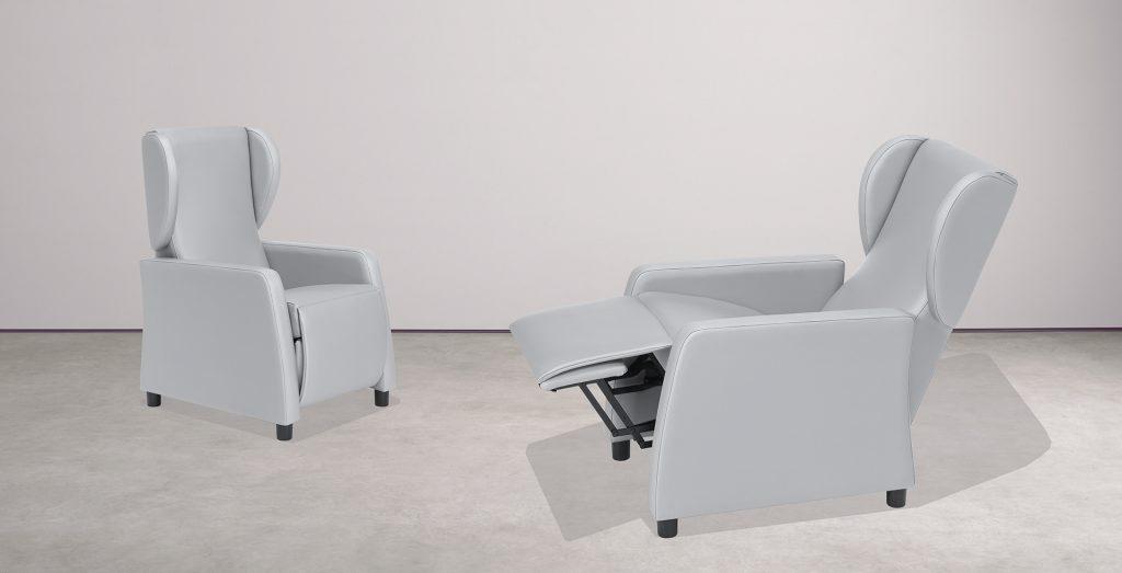Sillones extensibles y mobiliario para geriátricos
