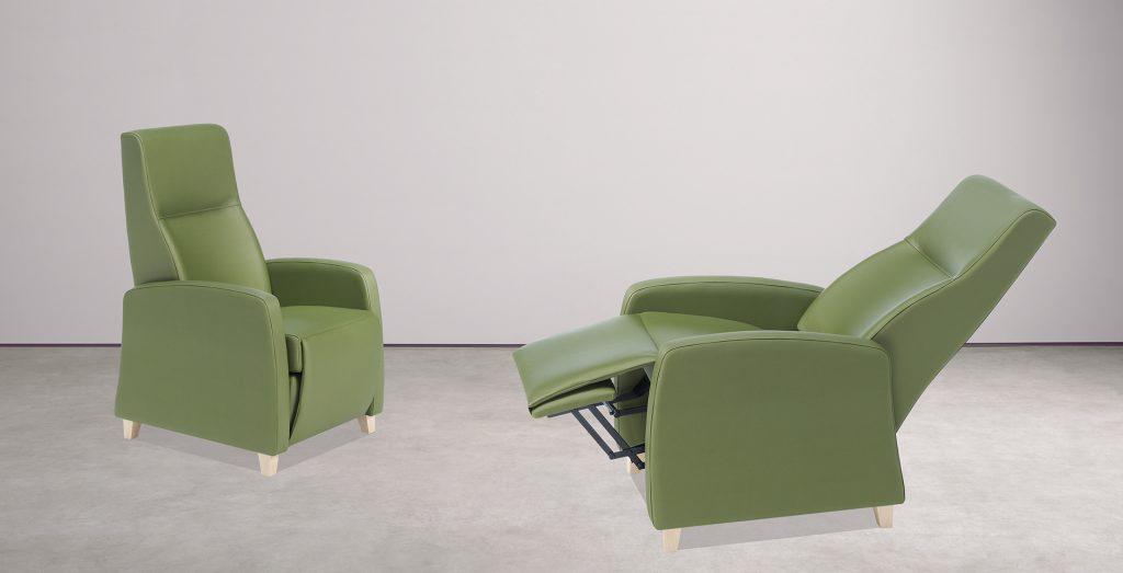 Mobiliario para geriátricos y sillones para personas mayores