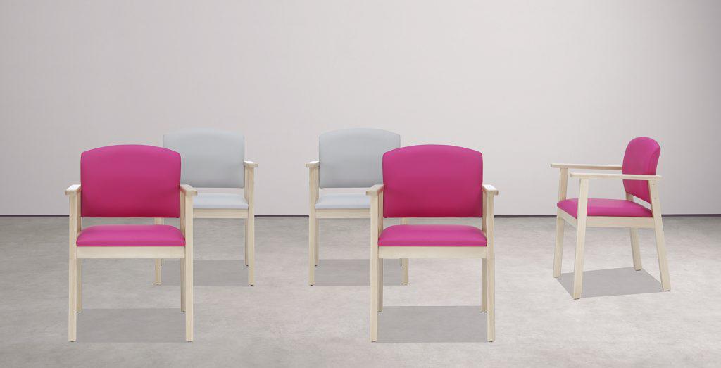 Mobiliario para geriátricos de la colección SENTA