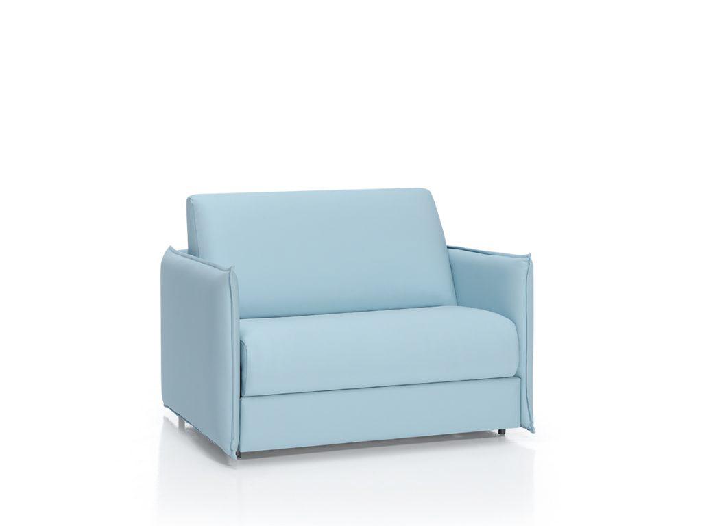 Sofá cama para residencias y geriátricos de líneas modernas