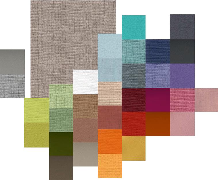 Gama de colores para mobiliario de geriatría
