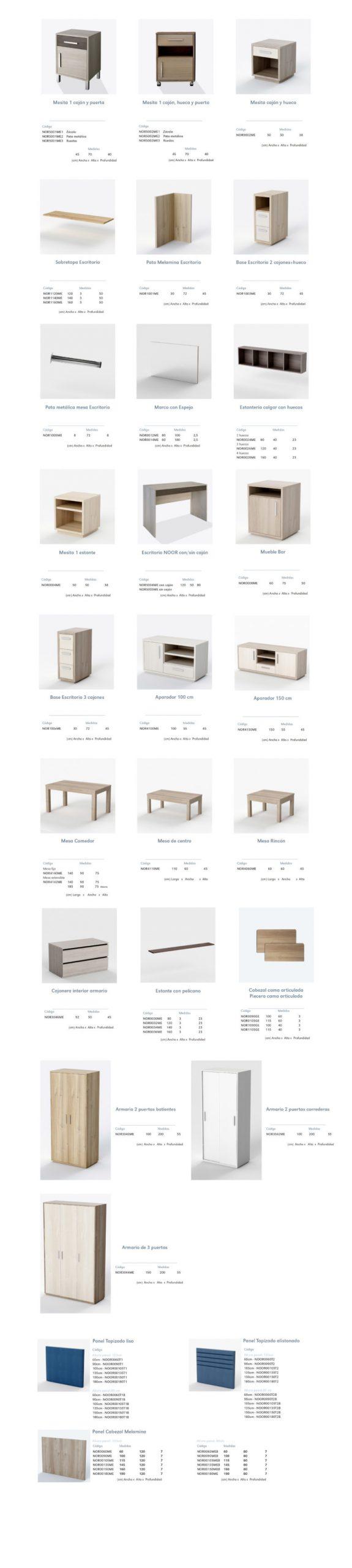 Modelos de la colección NOOR: mobiliario residencia de ancianos